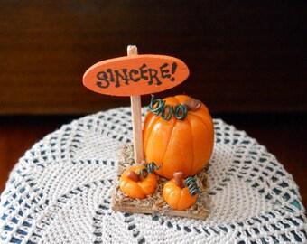 1/12 Scale (Dollhouse) Sincere Halloween Porch or Yard Decoration - Linus' Pumpkin Patch - Indoor Fairy Garden