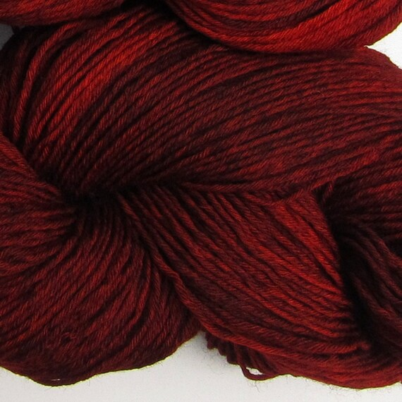 Three Hares hand dyed sock yarn fingering weight, 8ply superwash merino, 100g - Smoked Paprika 3