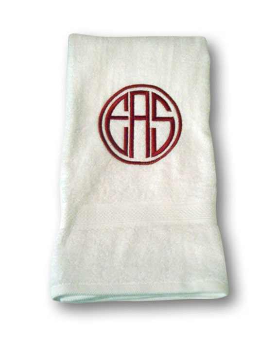 Monogrammed Bath Towel By MonogramsEtcNC On Etsy