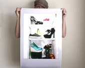 Teen Girls Dorm Room Fashion Bedroom Fine Art Poster Print : 20x30 inch
