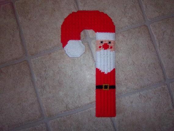 Handmade Santa Claus Door Hanger Plastic Canvas