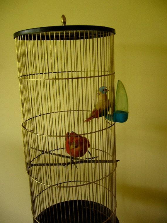 Vintage Feathered PARROTS Tropical Parrots Cool Tiki Parrot - photo#45