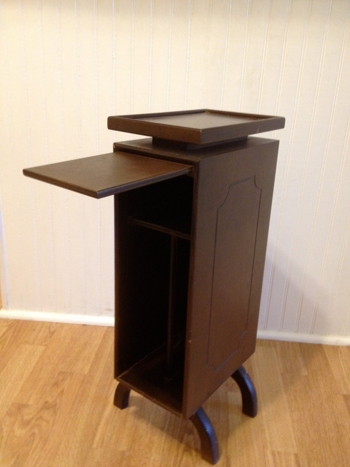 Vintage telephone table with slide out wood by