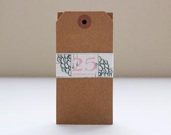 Blank Kraft Paper Gift Tags - Extra Large