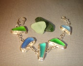 Hand Crafted Sea Glass Bracelet
