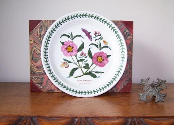 The Botanic Garden Portmeirion Plate Cistus Purpureus Purple