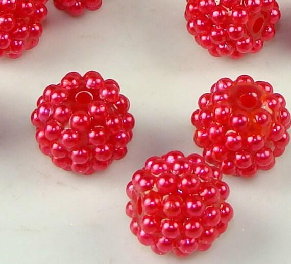 14mm Berry Beads Burgandy 16pcs (45102)