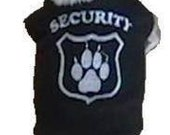 Embroidered Security Shirt Dog shirt - 4 Sizes Available - Guaranteed fit - Exchanges and Returns Honored