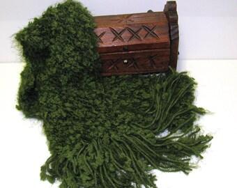 Silky Green Fashion Scarf, Green Spring Scarf, Green Summer Scarf, Ladies Green Scarf