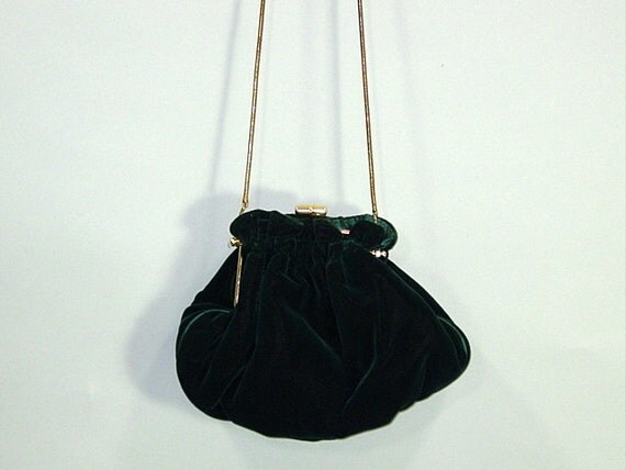 Vintage Bag / Evening / GREEN VELVET