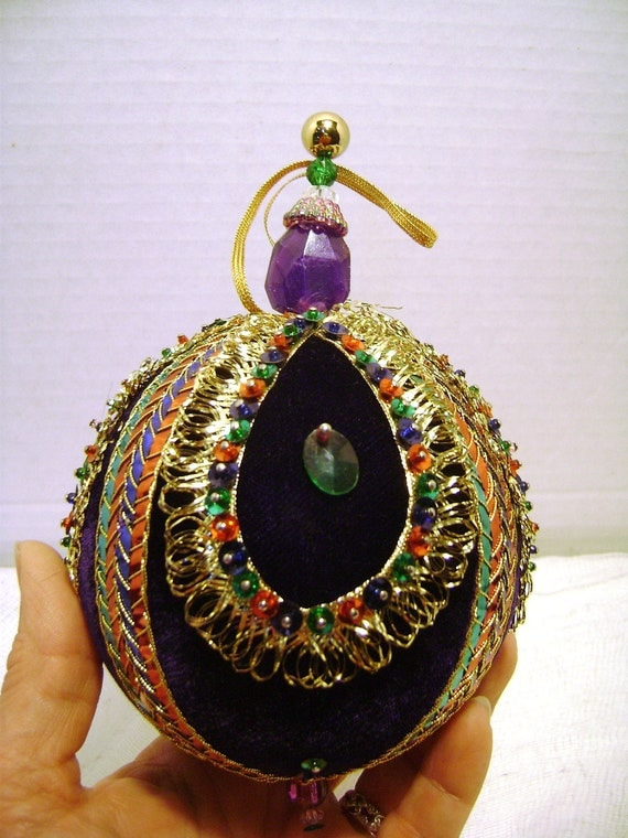 Vintage Christmas Tree Ornament Extra Large by JunqueGypsy ...