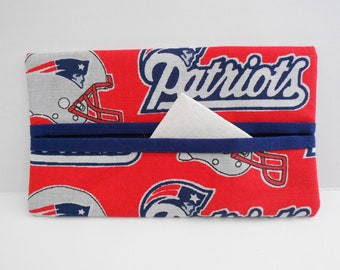 New England Patriots Tissue Cozy/Gift Card Holder/Party Favor/Wedding Favor