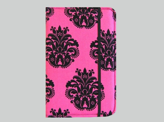 Kindle Cover Hardcover, Kindle Case, eReader, Kobo, Kindle Voyage, Kindle Fire HD 6 7, Kindle Paperwhite, Nook GlowLight Pink Fleur De Lis