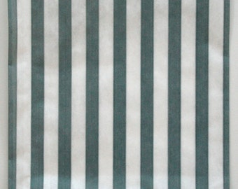 Set of 25 - Traditional Sweet Shop Grey Candy Stripe Paper Bags - 5 x 7 New Style