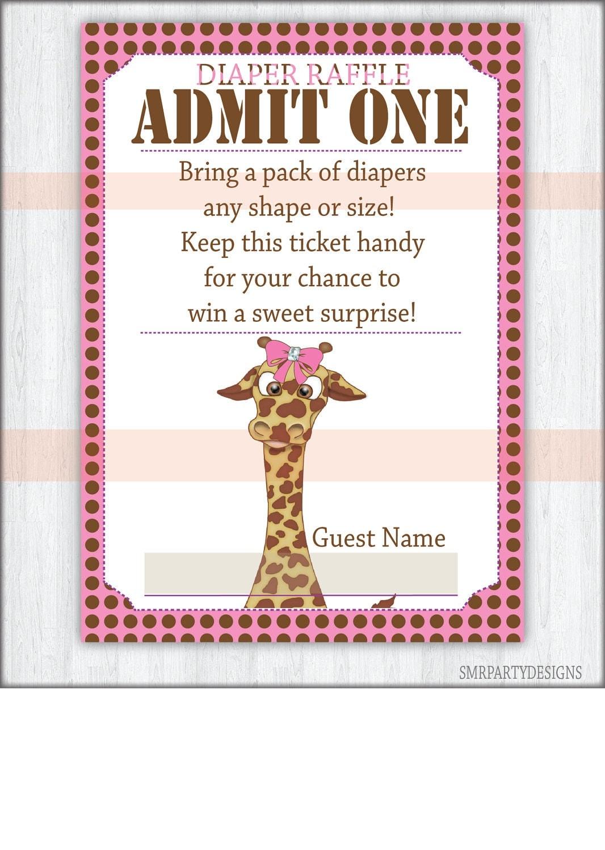 Diaper Raffle Tickets Free Printable Diaper raffle ticket