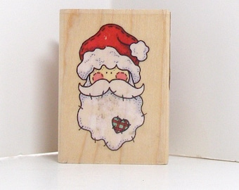 Country Claus Rubber Stamp