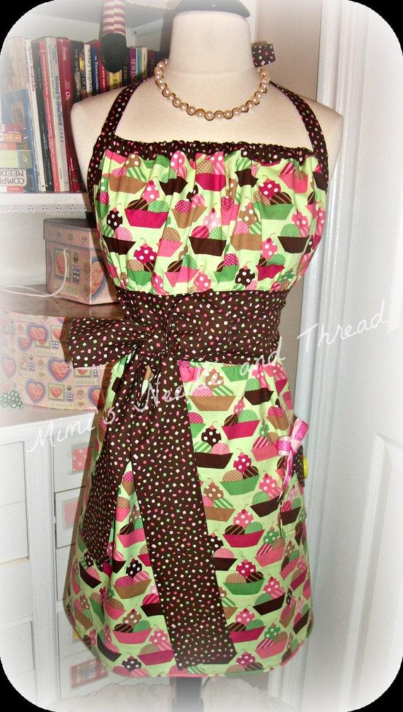 Just Desserts handmade retro apron