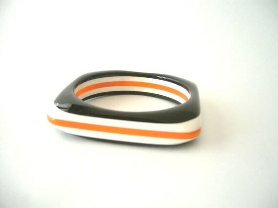 orange, black and white bracelet vintage