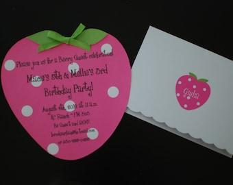 10 Strawberry Shortcake Birthday Invitation Invitations
