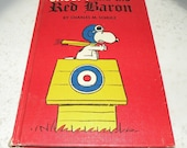 1967 Snoopy and the Red Baron by Charles M Schultz  hard cover - LavenderOwlVintage
