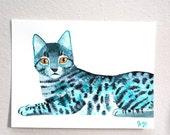 cat (original painting on paper)