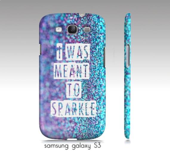 purple glitter case, samsung S3,4,5, iphone4,5,6 phone case, turquoise ...