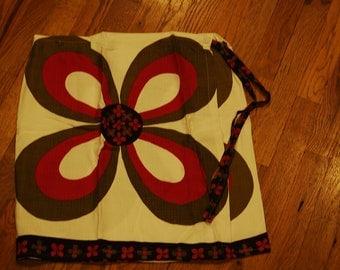 Retro vintage tablecloth wrap skirt