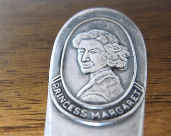 1958 Princess Margaret Visits Canada Commemorative Spoon, Silverplate Vintage Souvenir Spoon