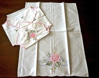 Pink roses towel – Etsy