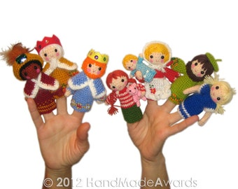 Chistmas NATIVITY Finger Puppets Pdf Email Crochet PATTERN