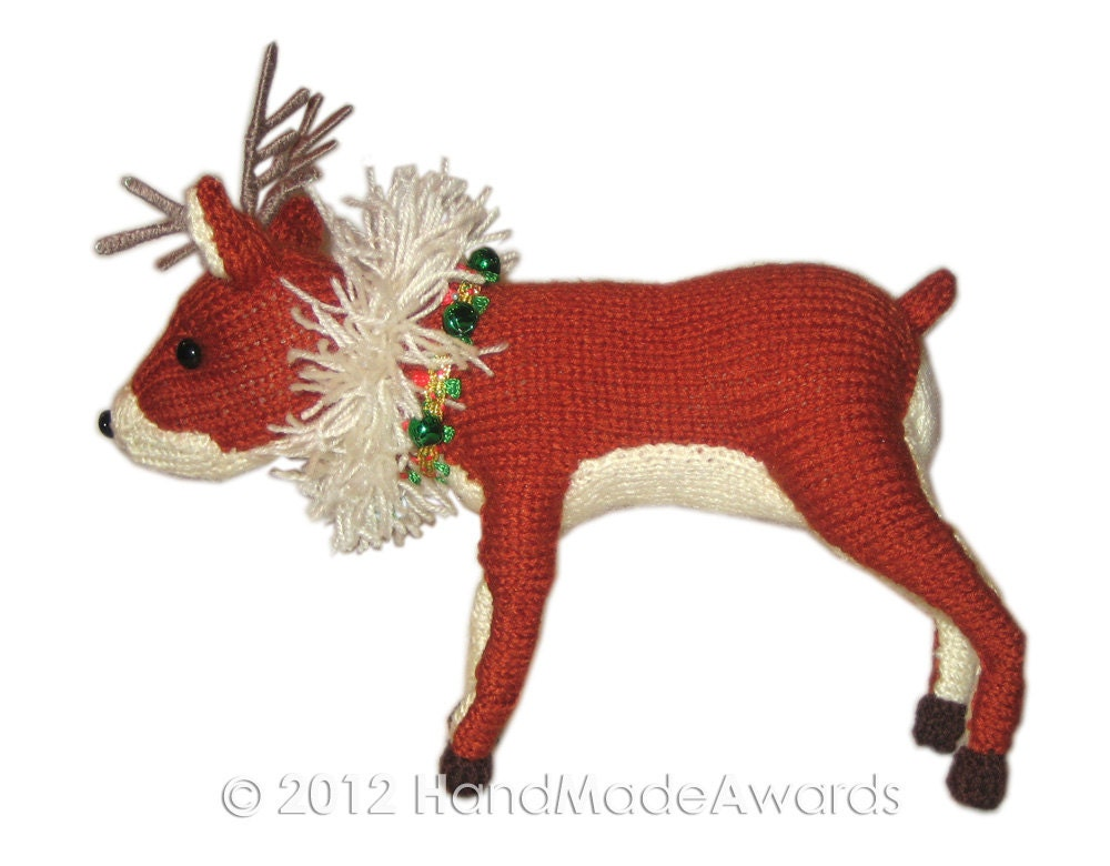 Reindeer Cushion Knitting Pattern : My Reindeer from Laponia PDF Email Knit PATTERN from HandMadeAwards on Etsy S...