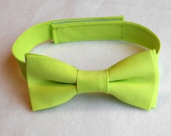Lime Green Bowtie - Infant, Toddler, Boys - 2 weeks before shipping