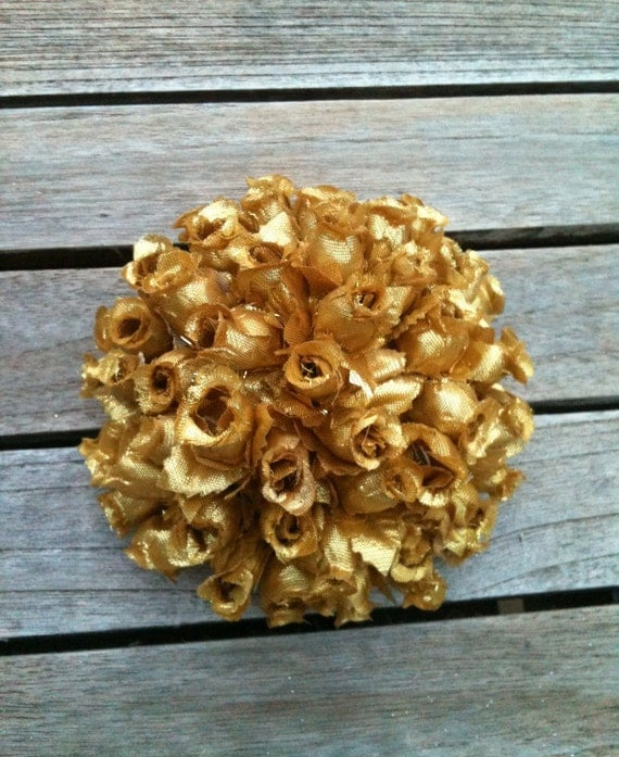 Gold Wedding Rose pomander Decoration Set of 12