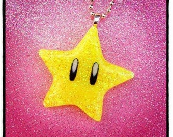Super Mario Invincibility Star Necklace