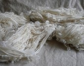 Handspun encasement yarn merino wool with washed locks
