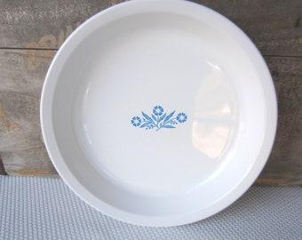 Vintage Cornflower Blue Pie Plate Corning Ware
