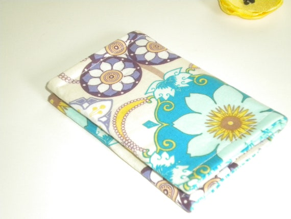 Business Card Holder Small Wallet  Business Card Case in Gems Ocean