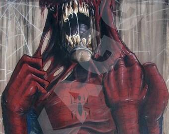 Zombie Spider-Man. Print of Original Painting