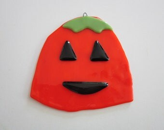 Jack O Lantern - Halloween Ornament Fused Glass
