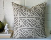 PILLOW COVER Chinese Chippendale design grey and cream design pillow cover accent pillow throw pillow