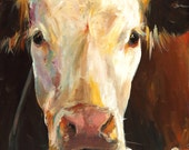 Cow Print- Gladys - Paper print of an Original Painting by Cari Humphry