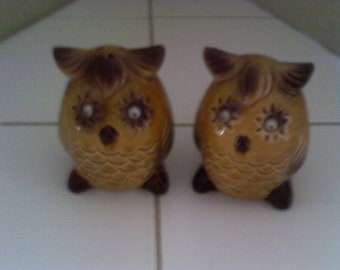 Wobbly Eyed Owl Salt and Pepper Shakers