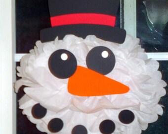 Frosty the Snowman pom pom kit       Santa Christmas Rudolph party decoration Winter Wonderland Onederland