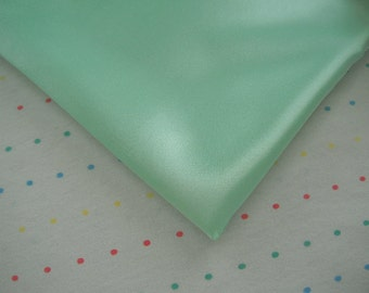 "Mint Green Satin Lining Fabric, 60"" Wide, BTY"