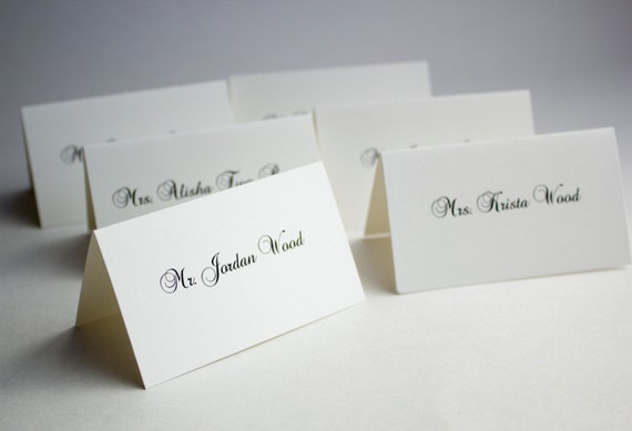 Items similar to wedding place cards formal and elegant
