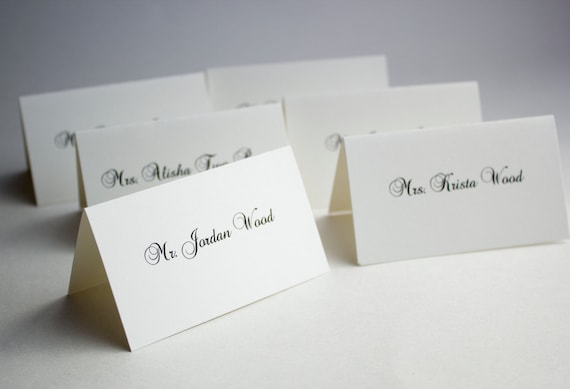 Items similar to Wedding Place Cards - Formal and Elegant ...