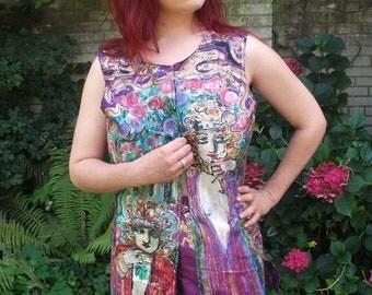 handpainted silk-vest size :S.