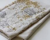 organic cotton blanket- yellow treehouses