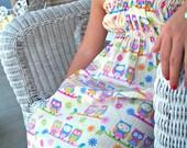Toddler Dress Owls on a Limb Ruffled Sundress Size 1T 2T 3T 4T 5T 6 6X