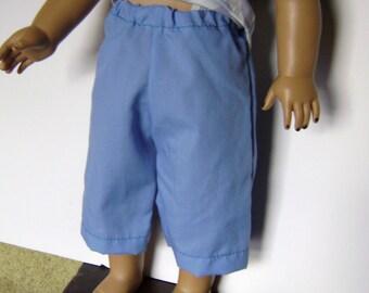 BK Blue Capri Pants - 18 Inch Doll Clothes fits American Girl Dolls